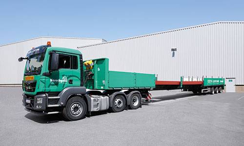 3-axle extendable semi-trailer truck